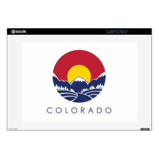Colorado Rocky Mountain State Flag Laptop Decal