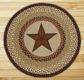 Capitol Importing 66 019BS Barn Star   27 in. x 27 in. Round Patch   Area Rugs