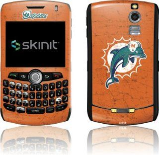 NFL   Miami Dolphins   Miami Dolphins Distressed  Aqua   BlackBerry Curve 8330   Skinit Skin Cell Phones & Accessories