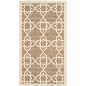 Safavieh Courtyard Brown/Beige 2.6 ft. x 5 ft. Area Rug CY6032 242 3