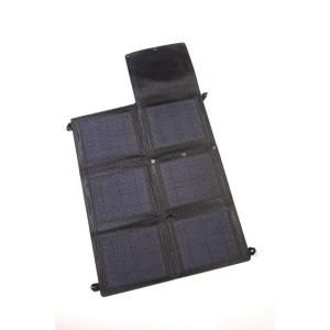 Grape Solar GoCharger 20 Watt Portable Folding Monocrystalline Solar Panel with 2 x 2 Amp USB Output GS GoCharger 20