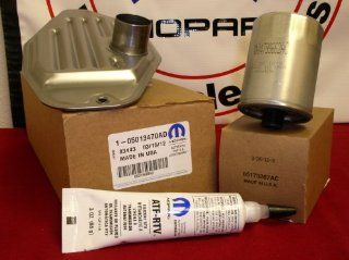 DODGE RAM JEEP 4WD 45RFE 545RFE 68RFE TRANSMISSION TRANS FILTER KIT & SEALER Automotive