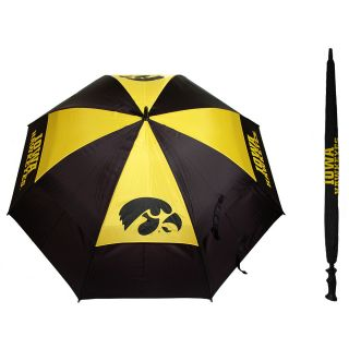 Team Golf University of Iowa Hawkeyes Double Canopy Golf Umbrella (637556215697)