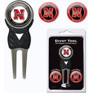 Team Golf University of Nebraska Cornhuskers 3 Marker Signature Divot Tool Pack
