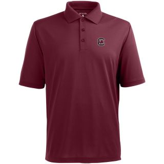 Antigua Mens South Carolina Gamecocks Pique Xtra Lite Desert Dry Moisture
