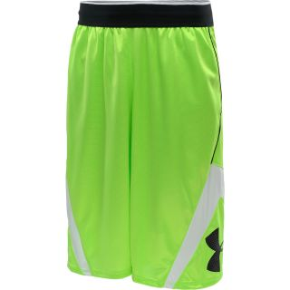 UNDER ARMOUR Mens EZ Mon Knee Basketball Shorts   Size Small, Green/white