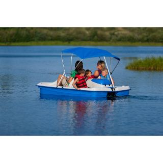 Sun Dolphin Water Wheeler Electric ASL STAINLESS Pedal Boat w/ Canopy   Blue,