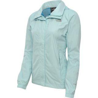 THE NORTH FACE Womens Resolve Rain Jacket   Size Large, Frosty Blue