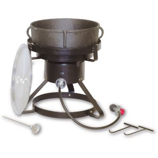 King Kooker 17.5 Outdoor Propane Cooker with 5 Gallong Cast Iron Pot (1720)
