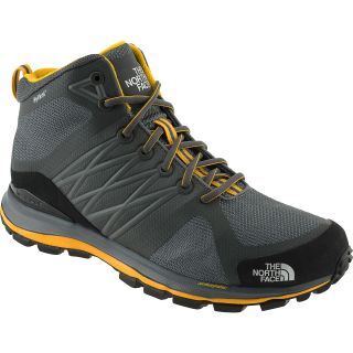 THE NORTH FACE Mens Lite Wave Guide Mid Trail Shoes   Size 9, Grey/yellow