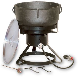 King Kooker 17.5  Outdoor Propane Cooker with 10 Gallon Cast Iron Pot (1740)