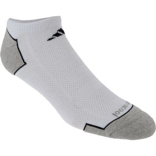adidas Mens Climacool II 2 Pack Low Cut Socks   Size Large, White/graphite