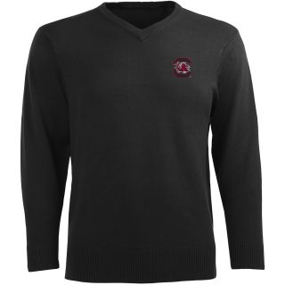 Antigua Mens South Carolina Gamecocks Ambassador Knit V Neck Sweater   Size