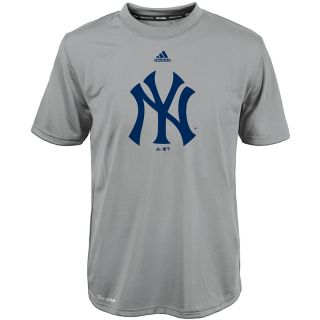 adidas Youth New York Yankees ClimaLite Team Logo Short Sleeve T Shirt   Size