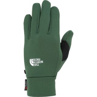 THE NORTH FACE Mens Power Stretch Gloves   Size Large, Green