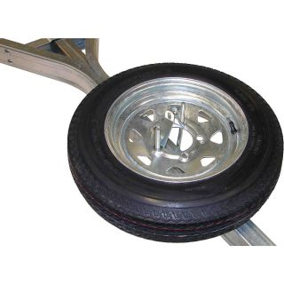 Malone Galvanized Trailer Spare Tire with Locking Attachment for MicroSport