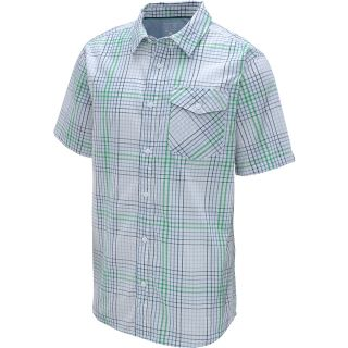 MOUNTAIN HARDWEAR Mens Drummond Short Sleeve Shirt   Size Medium, White