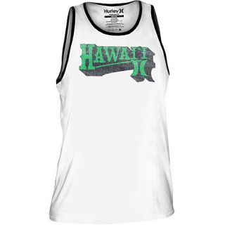 HURLEY Mens Hawaii Rainbow Warriors Premium Tank Top   Size Large, White