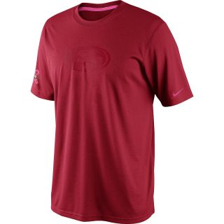 NIKE Mens San Francisco 49ers Breast Cancer Awareness Legend T Shirt   Size