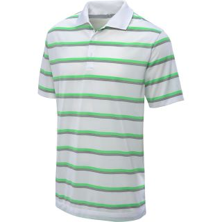 NIKE Mens Ultra Stripe Golf Polo   Size Large, White/grey