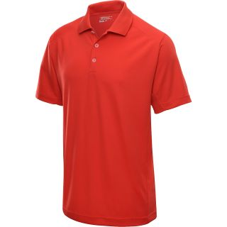 NIKE Mens Tech Jersey Golf Polo   Size Medium, University Red/white