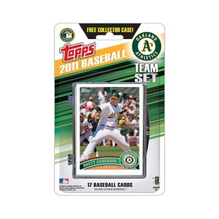Topps 2011 Oakland Athletics Official Team Baseball Card Set of 17 Cards in
