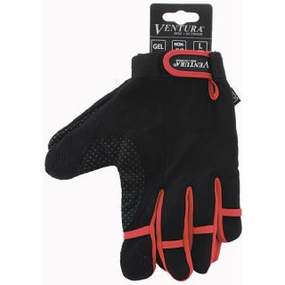 Ventura Full Finger Gloves   Size Medium, Red (719950 R)