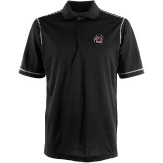 Antigua South Carolina Gamecocks Mens Icon Polo   Size Large, Black/white