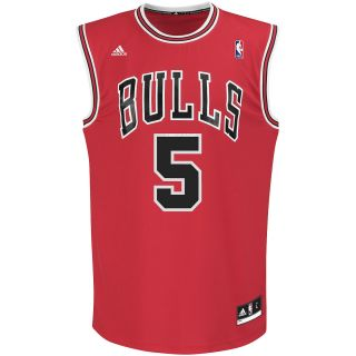 adidas Mens Chicago Bulls Carlos Boozer Replica Road Jersey   Size Medium, Red