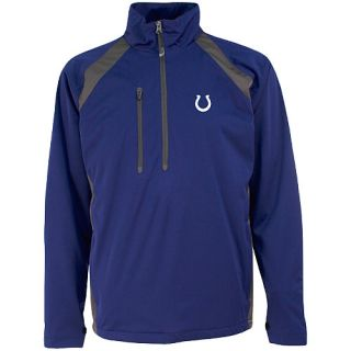 Antigua Mens Indianapolis Colts Rendition Water Resistant Half Zip Pullover