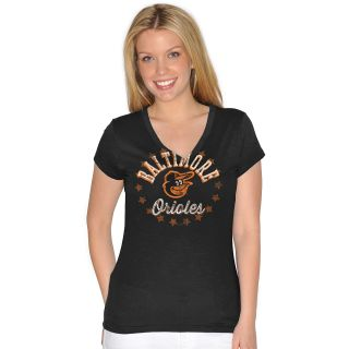 G III Womens Baltimore Orioles Lead Off V Neck T Shirt   Size Small