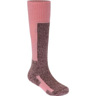 THORLO Thick Cushion Ski Socks   Size 9, Pink/chocolate