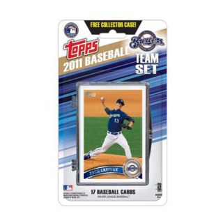 Topps 2011 Milwaukee Brewers Official Team Baseball Card Set of 17 Cards in