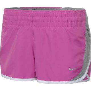 NIKE Womens Dash Running Shorts   Size Xl, Club Pink/white