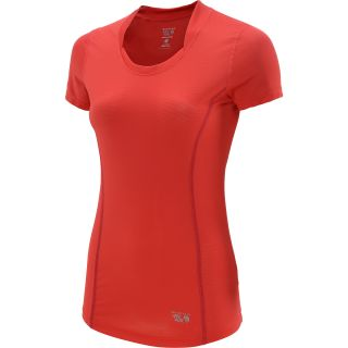 MOUNTAIN HARDWEAR Womens Wicked Lite Short Sleeve T Shirt   Size Small, Red