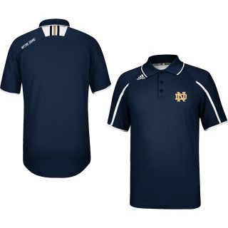 adidas Mens Notre Dame Fighting Irish Sideline Team Color Polo Shirt   Size