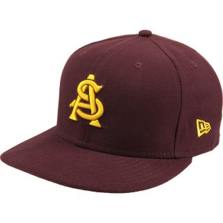 NEW ERA Mens Arizona State Sun Devils On Field 59FIFTY Maroon Fitted Cap