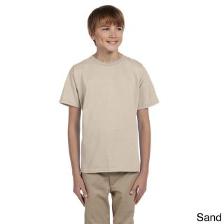 Gildan Gildan Youth Ultra Cotton 6 ounce T shirt Tan Size L (14 16)