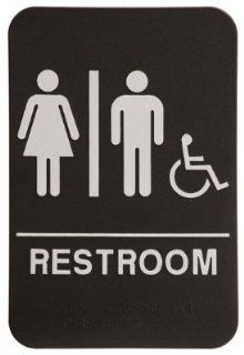 Unisex Restroom Sign Black/White   ADA Compliant