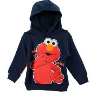 "Sesame Street Elmo ""Cross Elmo"" Navy Toddler Hoodie Sweatshirt Clothing"