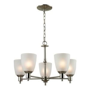 Titan Lighting 5 Light Ceiling Brushed Nickel Chandelier TN 50058