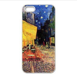 "Vincent Van Gogh ""Cafe Terrace at Night"" Accessories Apple Iphone 5 Waterproof TPU Back Cases Cell Phones & Accessories"