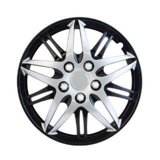 "Pilot Automotive WH544 15C BLK Formula Performance Series Silver 15"" Wheel Cover with Black Chrome, (Set of 4) Automotive"