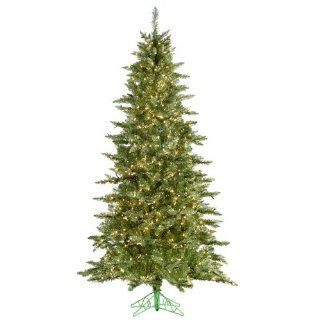 7.5' Pre Lit Layered Lime Green Frasier Fir Artificial Christmas Tree Clear Lit