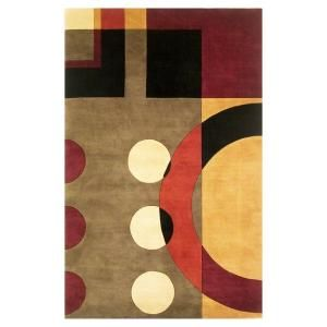 Kas Rugs Contempo Earth Jeweltone 5 ft. 3 in. x 8 ft. 3 in. Area Rug SIG912553X83