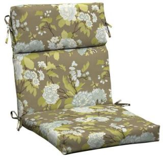 Hampton Bay Virginia Floral High Back Outdoor Chair Cushion AD10062B 9D1