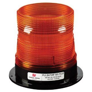 Federal Signal 211820 02 Pulsator 551 Plus Strobe Beacon, Class 2, Permanent Mount with Amber Dome Industrial Warning Lights