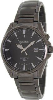 Seiko Men's SKA567 Grey Stainless Steel Quartz Watch with Black Dial at  Men's Watch store.