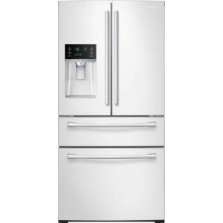 Samsung 28.1 cu. ft. French Door Refrigerator in White RF28HMEDBWW