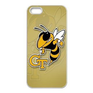 WY Supplier Popular NCAA Georgia Tech Yellow Jackets Logo of Apple iphone 5/5s phone case, Seal 575, Georgia Tech Yellow Jackets Apple iphone 5/5s Premium Hard Plastic Case Covers TPU case Cell Phones & Accessories